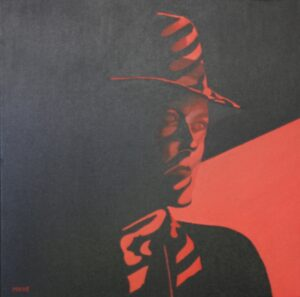 Woman in red - olie- 2013 - 50x50